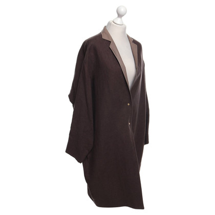 René Storck Coat in grey / brown