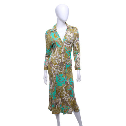 Etro Gemustertes Kleid in Multicolor