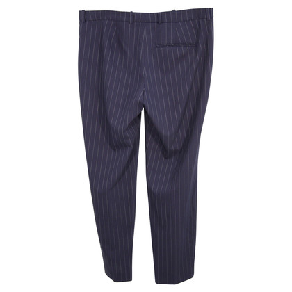 Hugo Boss Pantaloni di lana a righe blu scuro
