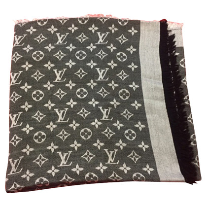 Louis Vuitton scialle Monogram Denim in nero