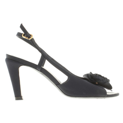 Chanel Sandals in dark blue