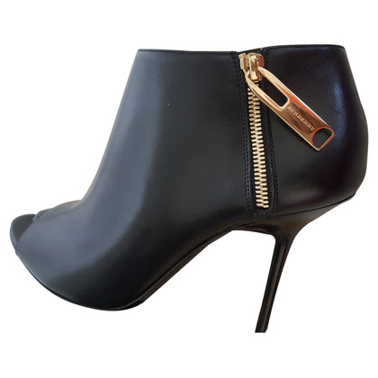 Burberry Peep Toe Ankle Boots