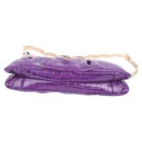 Versace clutch in reptile optics