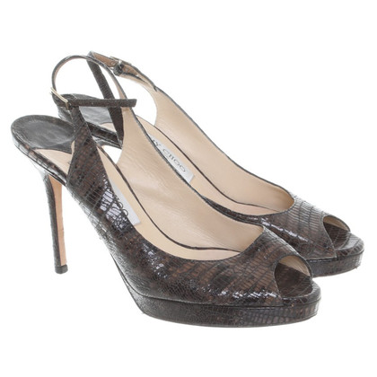Jimmy Choo Peep-toes in dark brown
