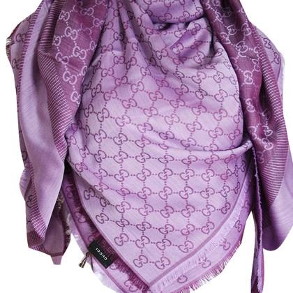 Gucci Tuch aus Wolle und Seide in Lila