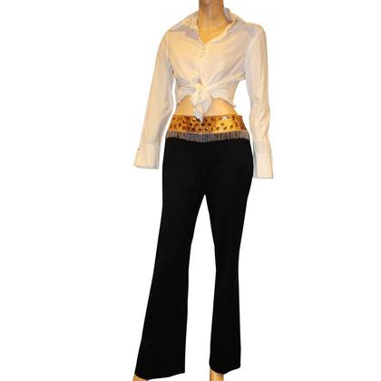 Escada Pants with jewel collar