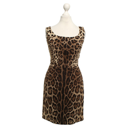 Dolce & Gabbana Jurk met luipaardprint