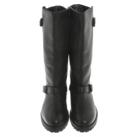 Max Mara Black leather boots