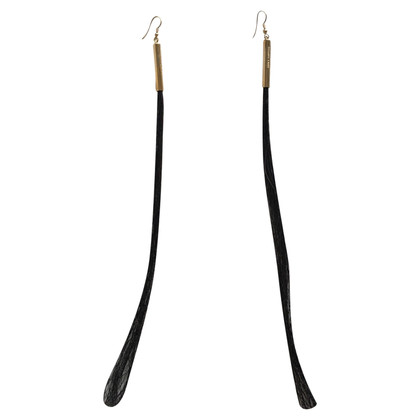 Helmut Lang Horse hair earrings