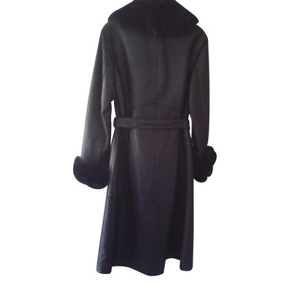 Hugo Boss Cappotto in pelle d'agnello