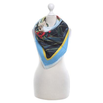 Dolce & Gabbana Sciarpa di seta con stampa floreale