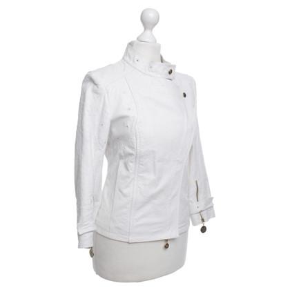 Patrizia Pepe Leather Jacket in White