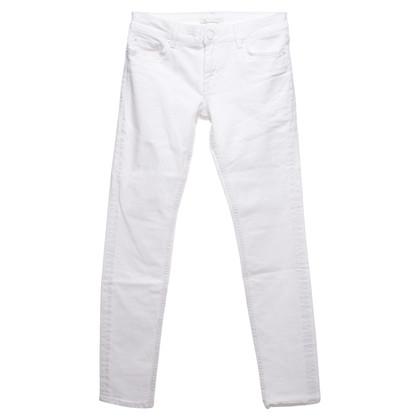Maje trousers in cream white