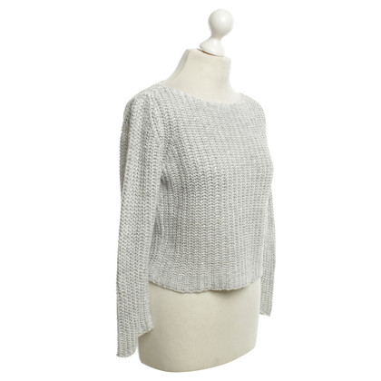 Fabiana Filippi Knitted sweater in light gray