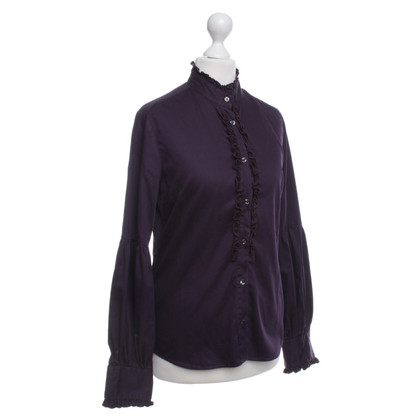 Other Designer 0039 Italy - plum-colored blouse