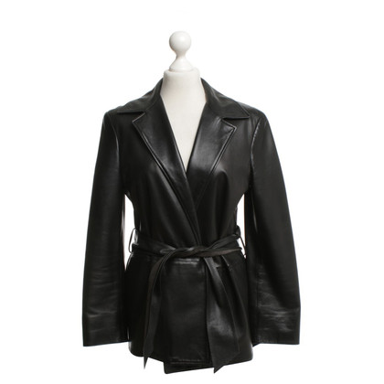 Jil Sander Leather bazaar in black