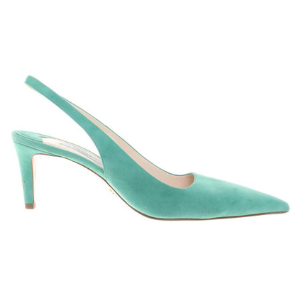 Prada pumps in mint green