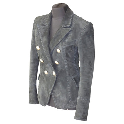 Balmain Runway blazer made of lamb suede