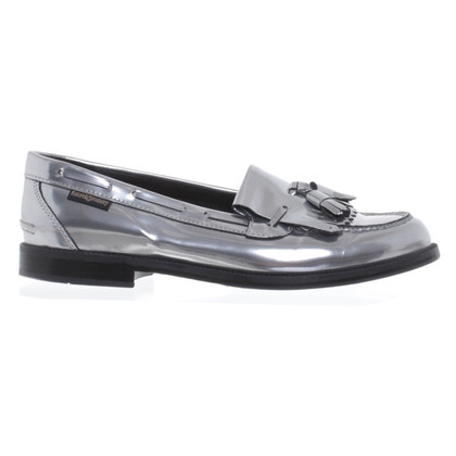 Russell & Bromley Patent leather slipper in silver