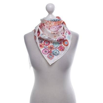 Longchamp Silk scarf with colorful pattern