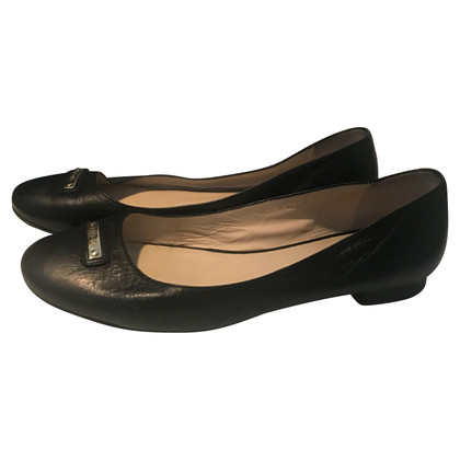 Escada Ballerinas in Schwarz