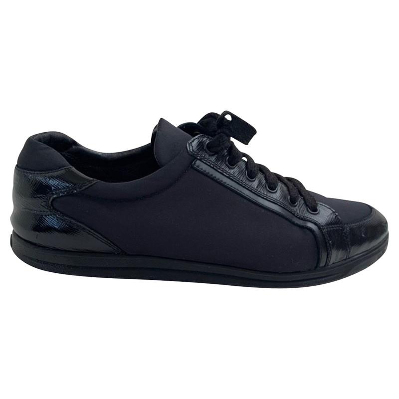 Prada Trainers Patent leather in Black