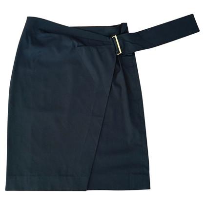 Yves Saint Laurent Wrap skirt night blue