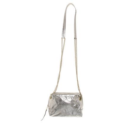 Lanvin Silberfarbene Umhängetasche