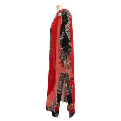 Roberto Cavalli Silk dress in patchwork look