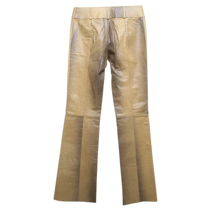 Patrizia Pepe Leather trousers in reptile look