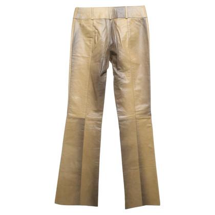 Patrizia Pepe Pantaloni di pelle in ottica di rettili