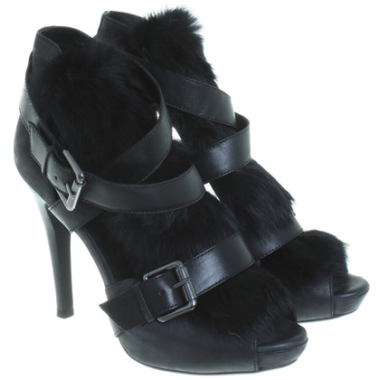 Ash Sandals with fur trim