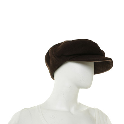 Jil Sander Flat Cap Brown