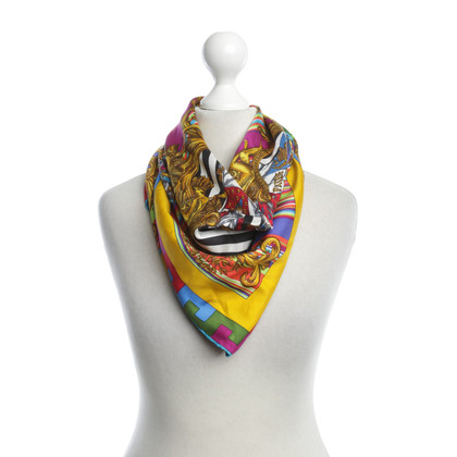 Versace Colorful silk scarf