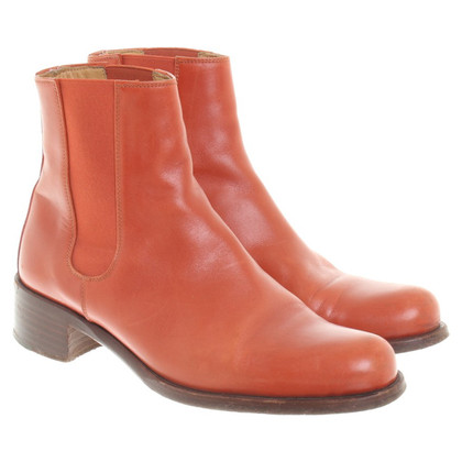 Hermès Ankle boots in orange