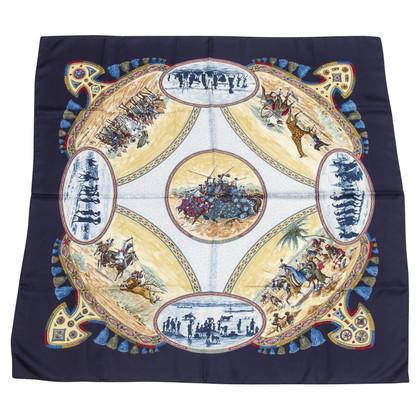 "Hermès Silk scarf ""Cavaliers Peuls"""