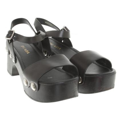Prada Sandaletten mit Blockabsatz