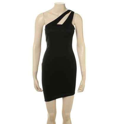 Mugler One-Shoulder-Kleid in Schwarz