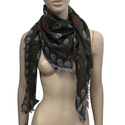 Alexander McQueen Green kiss scarf