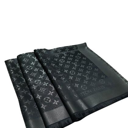 Louis Vuitton Monogram glansdoek in zwart / Zilver