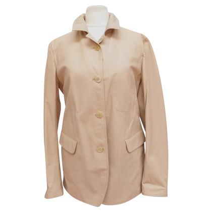 Jil Sander Leather reversible jacket