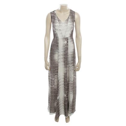 Reiss Maxi dress in white / grey