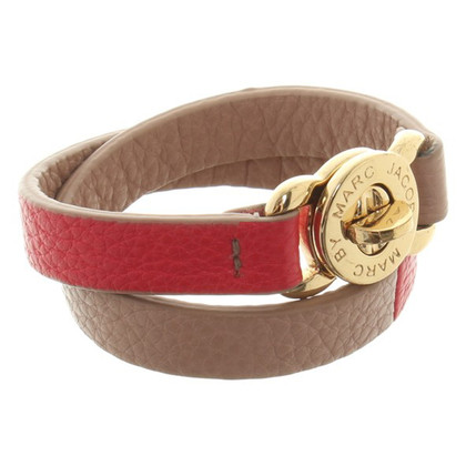 Marc by Marc Jacobs Leren armband in Bicolor