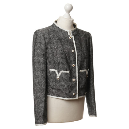 Rena Lange Bouclé-Jacke in Schwarz-weiß