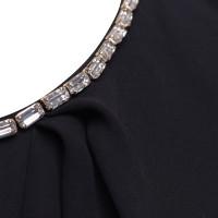 Elisabetta Franchi Black dress with gemstones