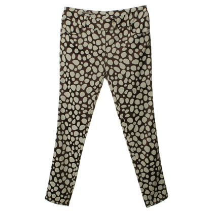 René Lezard Pants with patch-print