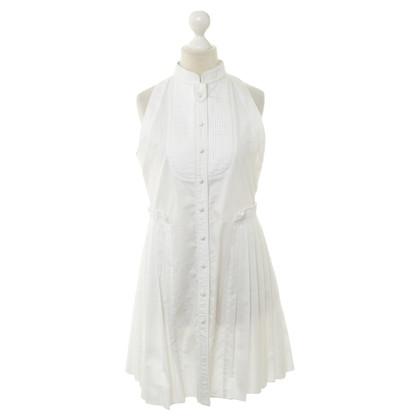 Proenza Schouler Weißes Kleid mit Plisseefalten
