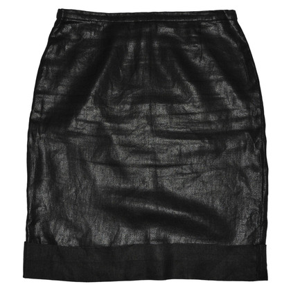 Max Mara Black Linen Skirt