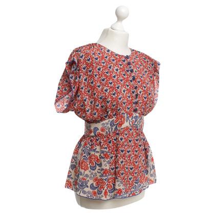 Anna Sui Zijden blouse met grafische print