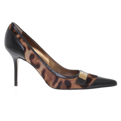 Dolce & Gabbana pumps with rabbit fur trim